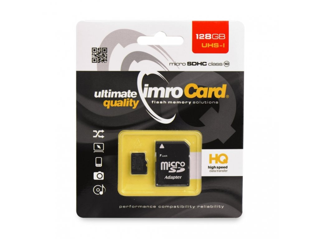 Memory Card Imro microSD 128GB with adapter / Class 10 UHS