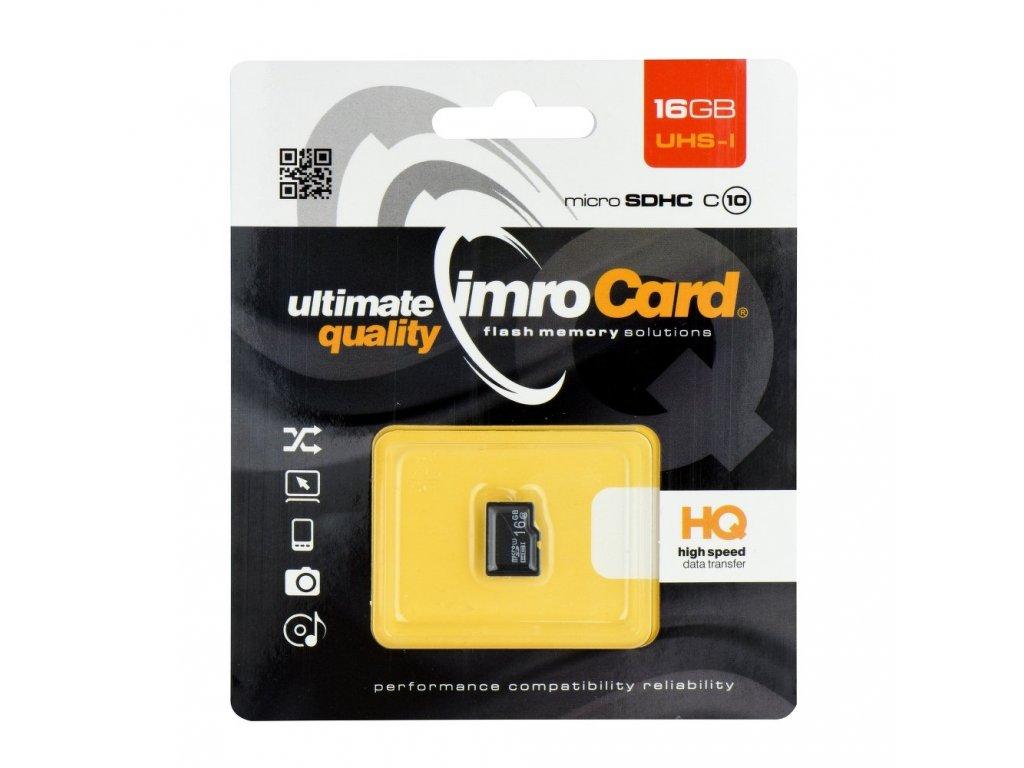 Memory Card Imro microSD 16GB / Class 10 UHS
