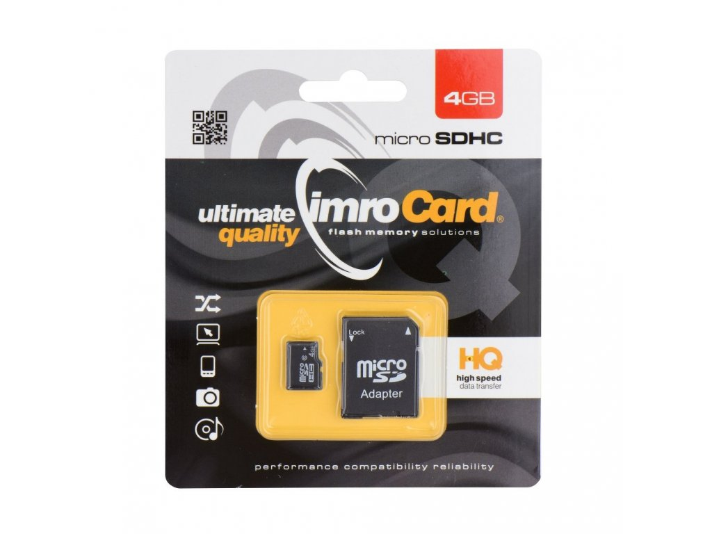 Memory Card Imro microSD 4GB with adapter / Class 10 UHS
