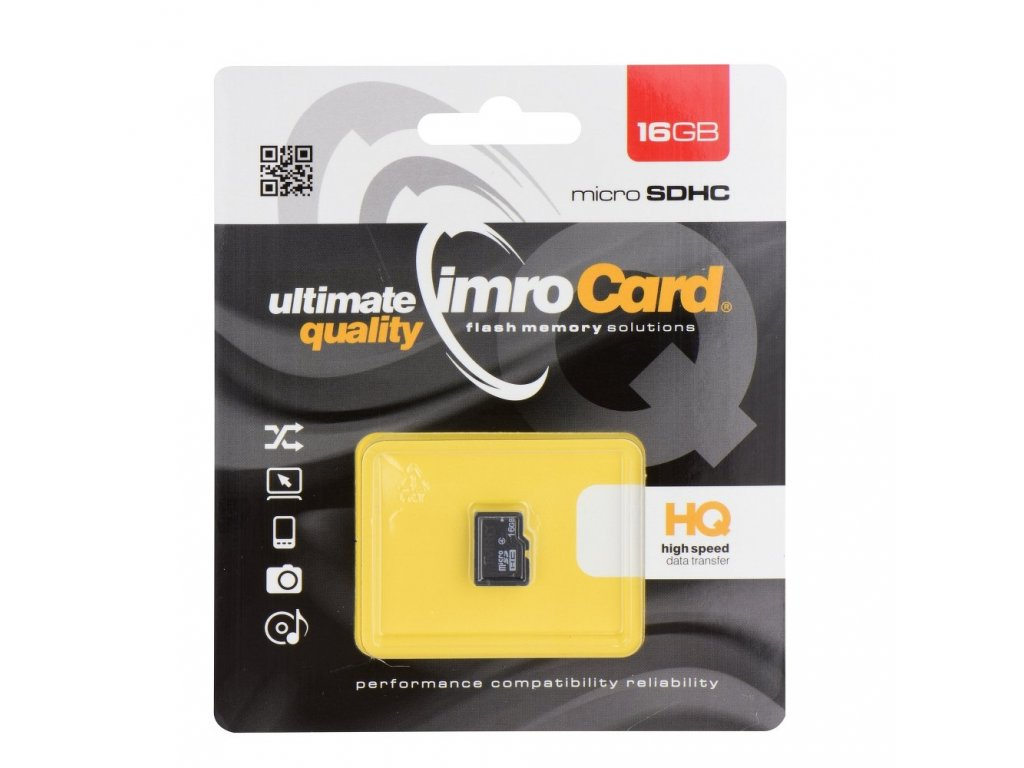 Memory Card Imro microSD 16GB without adapter SD