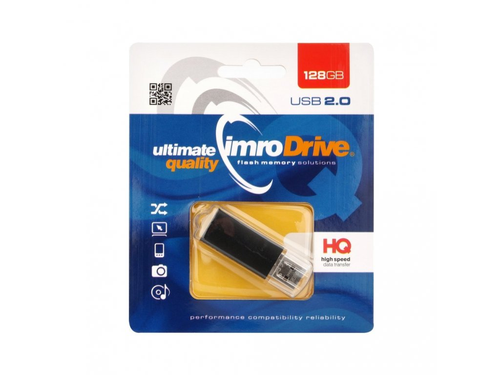 Portable Memory Pendrive Imro BLACK 128 GB