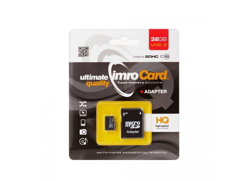 Memory Card Imro microSD 32GB with adapter / Class 10 UHS-3