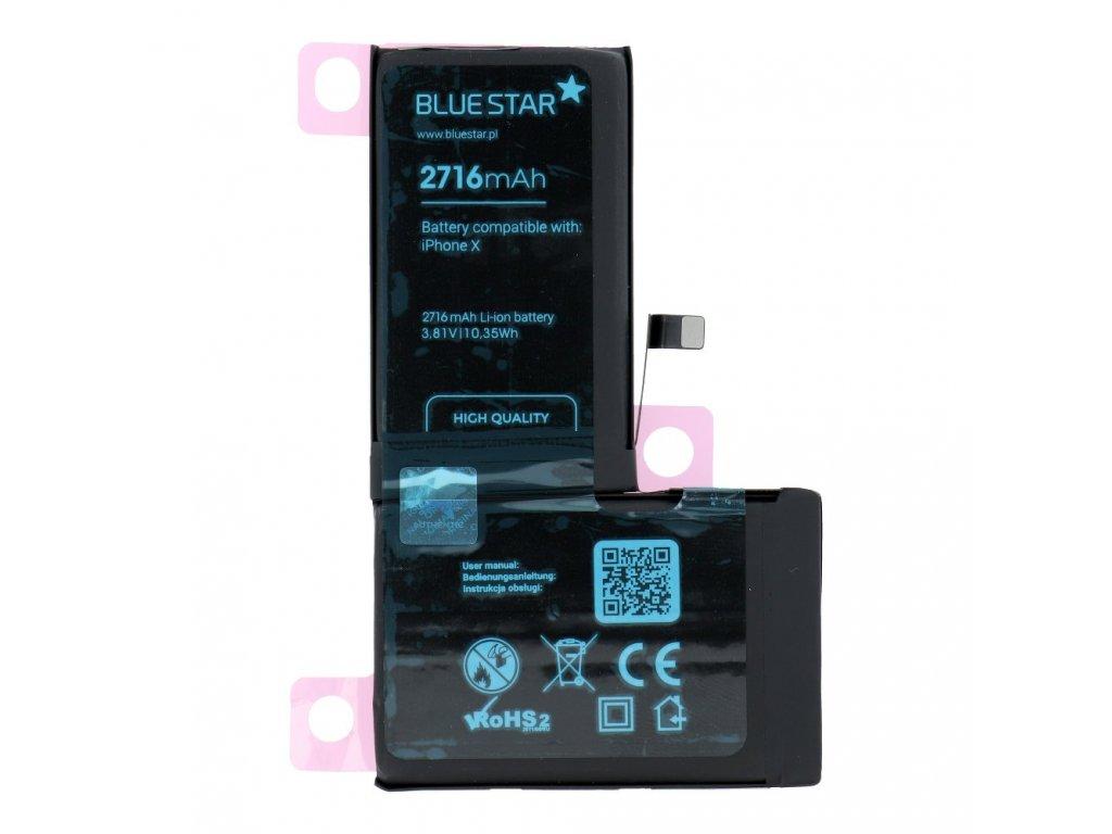 Baterie pro Iphone X 2716 mAh Polymer Blue Star HQ