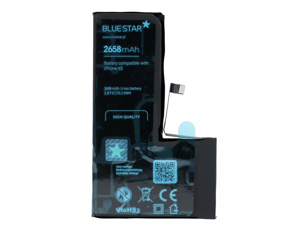 Baterie pro Iphone XS 2658 mAh Polymer Blue Star HQ
