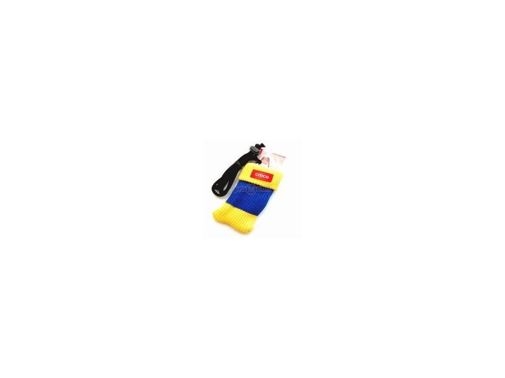 Pouzdro croco kulich modro žlutý