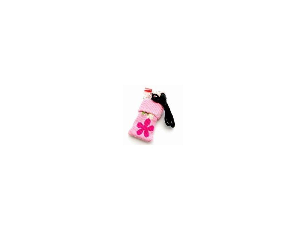 Pouzdro croco kulich růžové s růžovou kytičkou