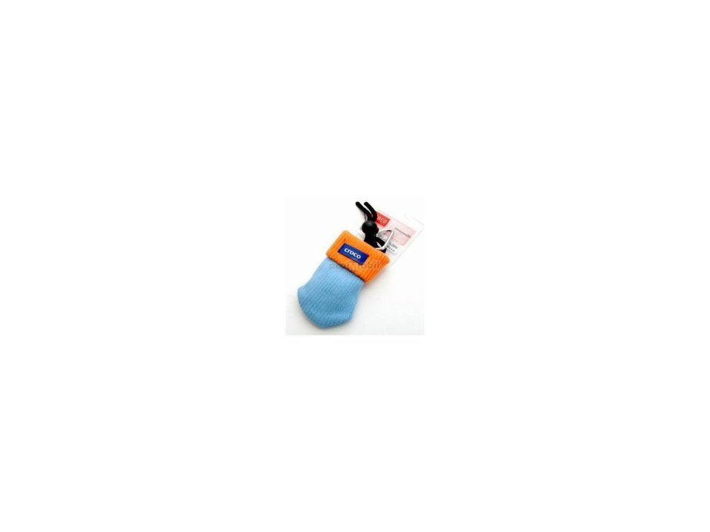 Pouzdro croco kulich kulaté modro oranžové