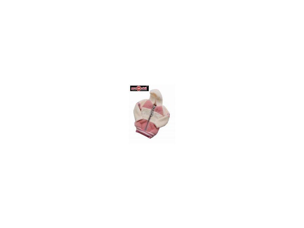 Fashion pouzdro bundička bílo - růžová