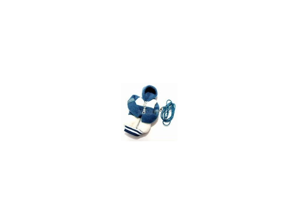 Fashion pouzdro bundička bílo - tmavě modrá