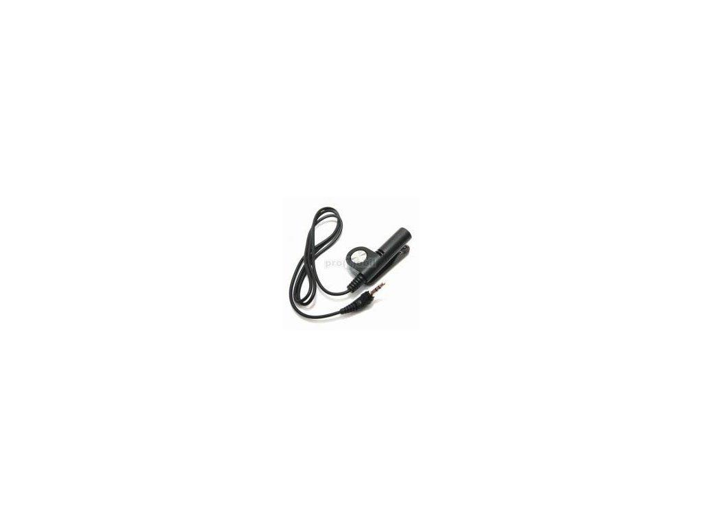 Audio adaptér PHF-03 s mikrofonem a tlačítkem přechod z 2,5 jack na 3,5 jack