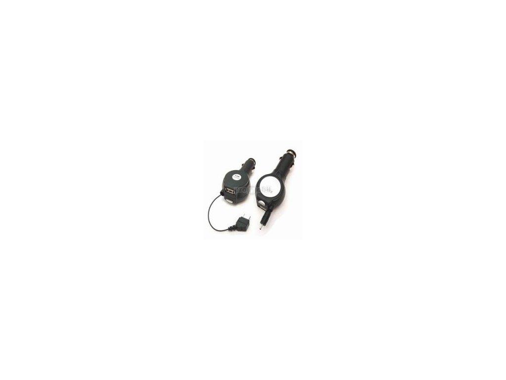 Autonabíječka Navíjecí + USB Samsung D800, Z400, P300, E900, E250, U600, X820-