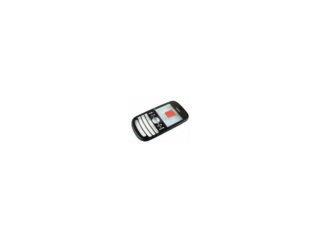 Přední kryt Nokia Asha 200 Graphite  - original