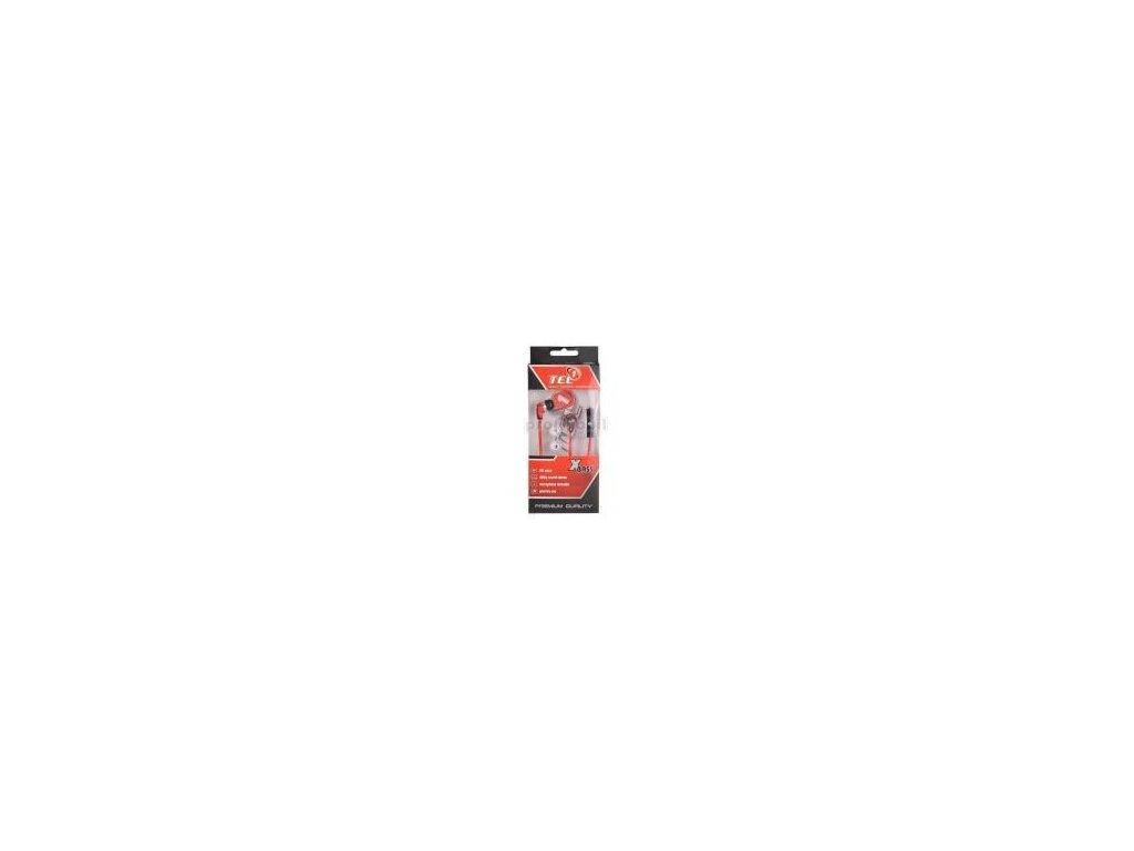 Headset TEL1 sport 3,5mm stereo červený