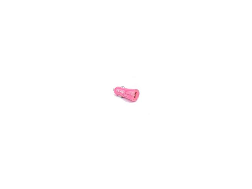 CL autonabíječka CELLY s USB výstupem, 1A, růžová, blister