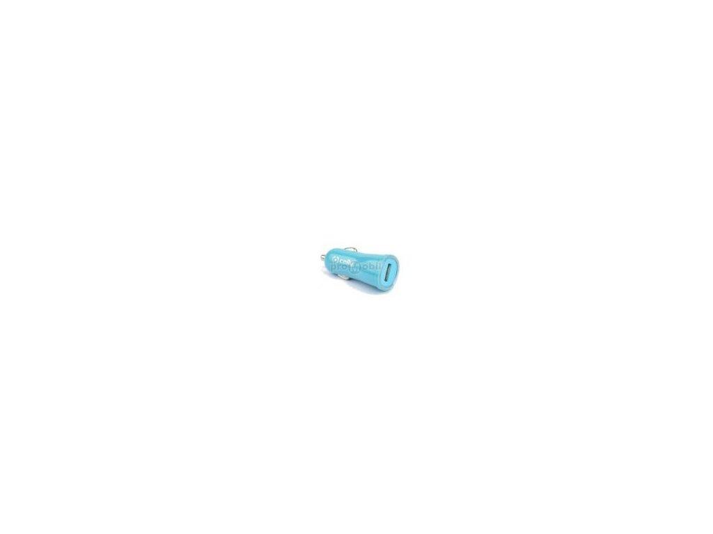 CL autonabíječka CELLY s USB výstupem, 1A, modrá, blister