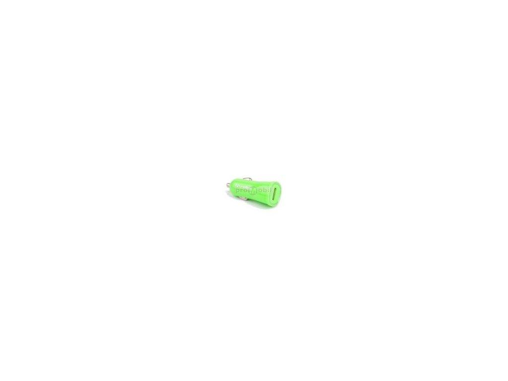 CL autonabíječka CELLY s USB výstupem, 1A, zelená, blister