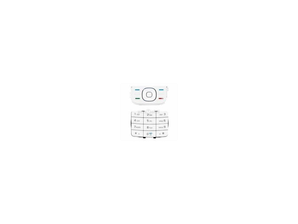 Klávesnice Nokia 5200, 5300  bílá - originál