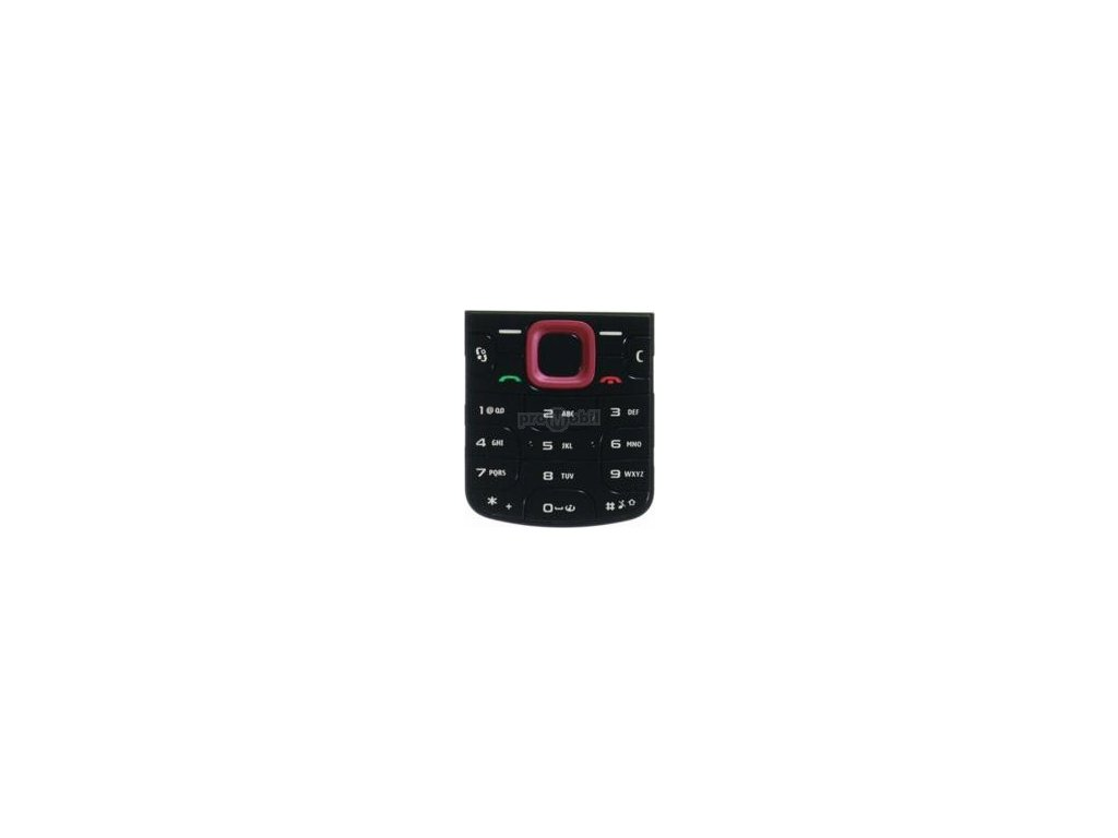 Klávesnice Nokia 5320 červeno/černá - originál