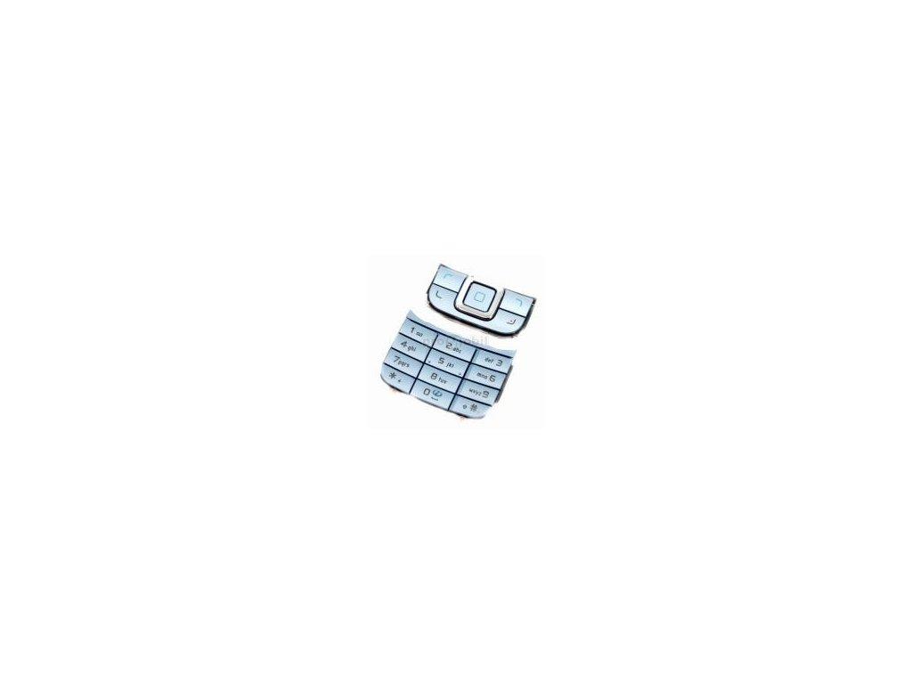 Klávesnice Nokia 6111 světle modrá - originál