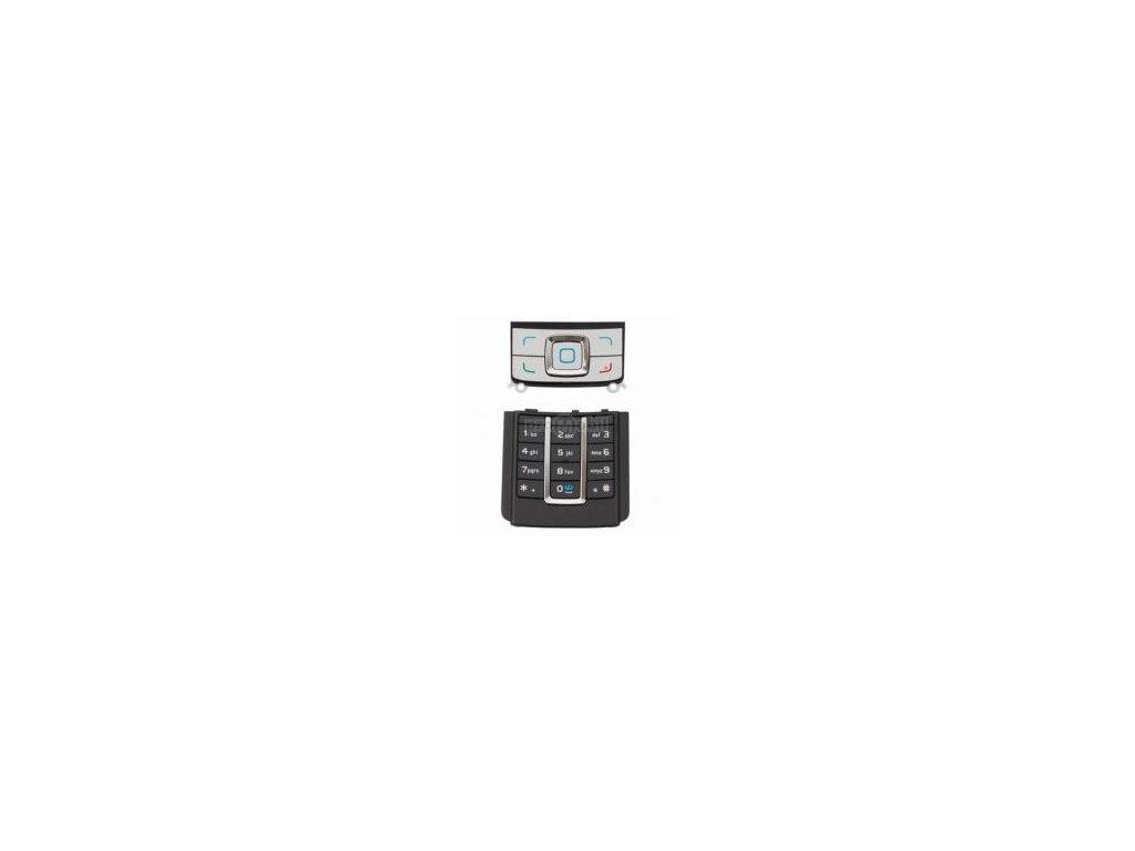 Klávesnice Nokia 6280 černo/stříbrná - originál