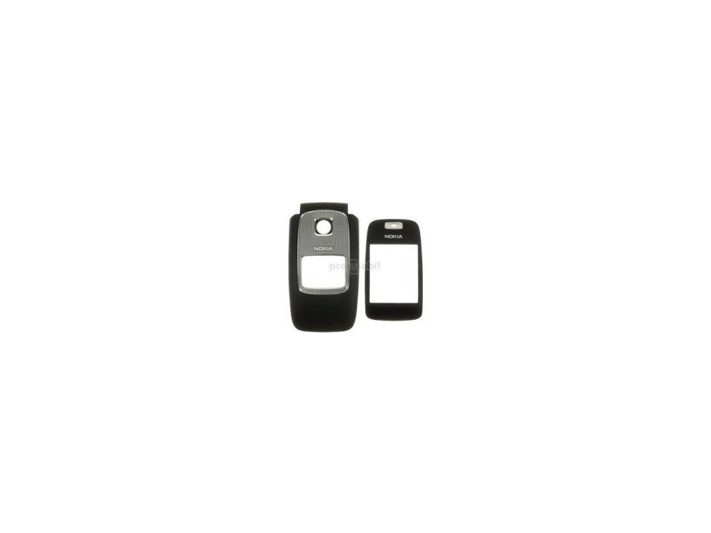 Kryt Nokia 6103 přední černý + velké sklo - originál
