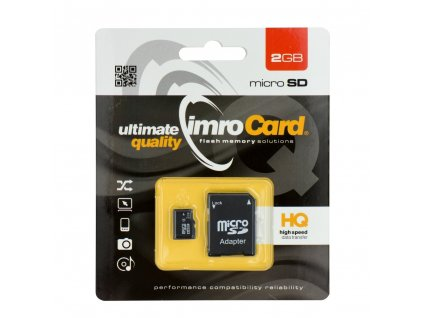 Memory Card Imro microSD 2GB with adapter