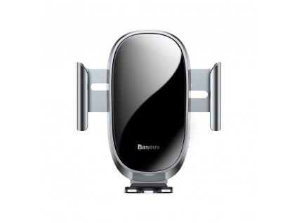BASEUS Držák do auta Smart Car Mount Cell Phone Holder stříbrný (automatic close) SUGENT-ZN0S