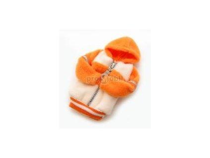 Fashion pouzdro bundička bílo - oranžová