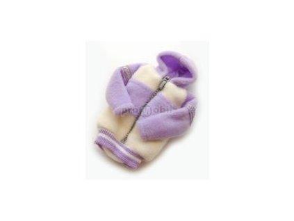 Fashion pouzdro bundička bílo - fialová