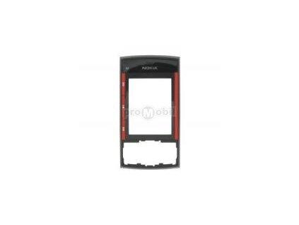Kryt Nokia X3 přední Black - Red - originál