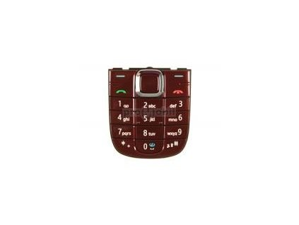 Keypad Nokia 3120c RED - original