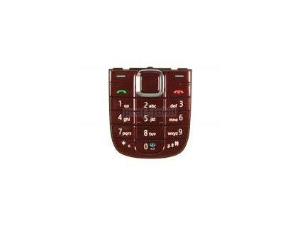 Keypad Nokia 3120c RED - original