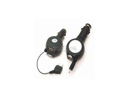 Autonabíječka Navíjecí + USB Motorola V3, V3i, V3x, L6, L7