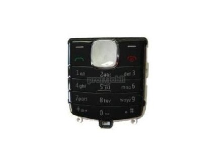 Keypad Nokia 1800 Metalic Black - original