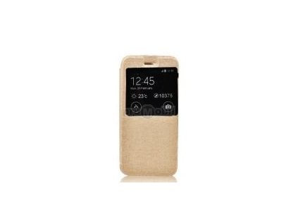 Pouzdro Etui S-view Flexi s okýnkem I8190 SAM Galaxy S3 mini gold