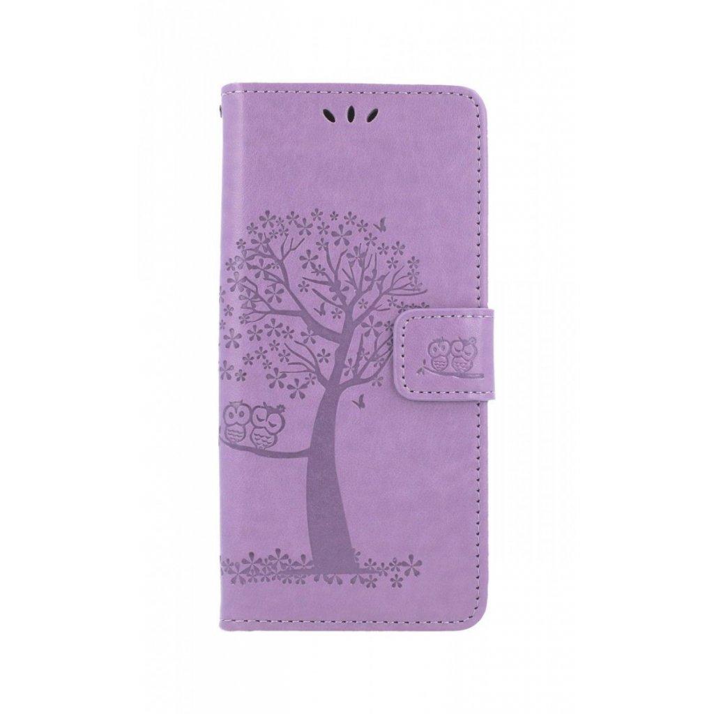Flipové puzdro na Realme 7i Fialový strom sovičky