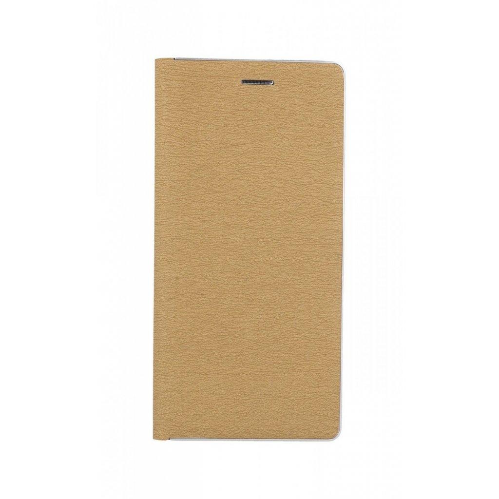Flipové puzdro Luna Book na Xiaomi Redmi Note 10 Pro zlato-strieborné