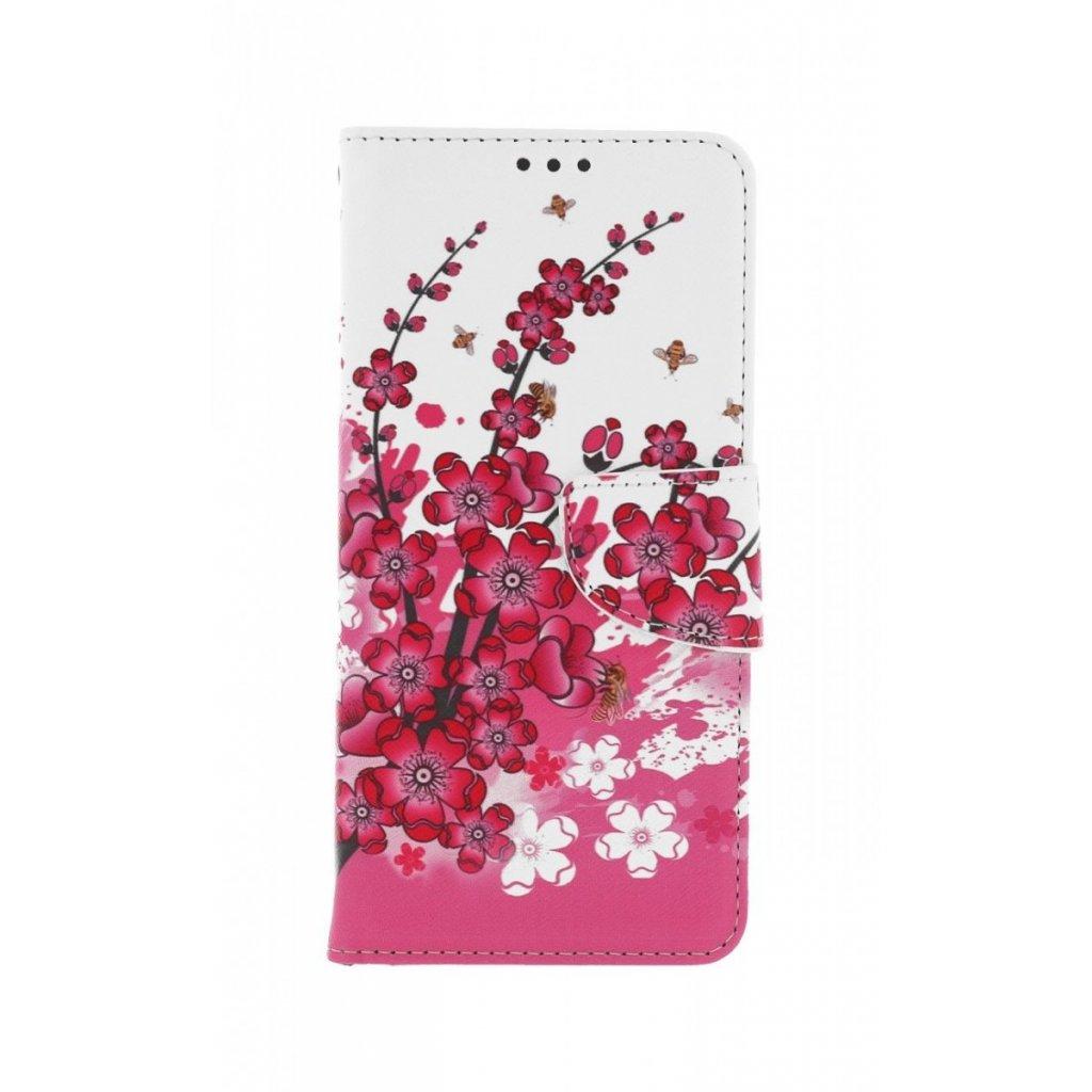 Flipové puzdro na Xiaomi Redmi Note 10 Kytičky textil
