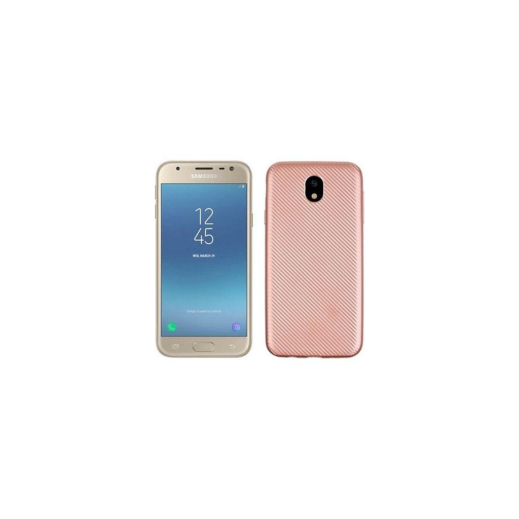 Zadný silikónový kryt na Samsung J5 2017 Carbon ružový