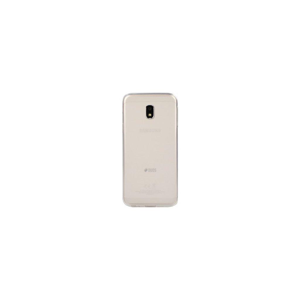 Zadný silikónový kryt na Samsung J3 2017 svetlý priehľadný