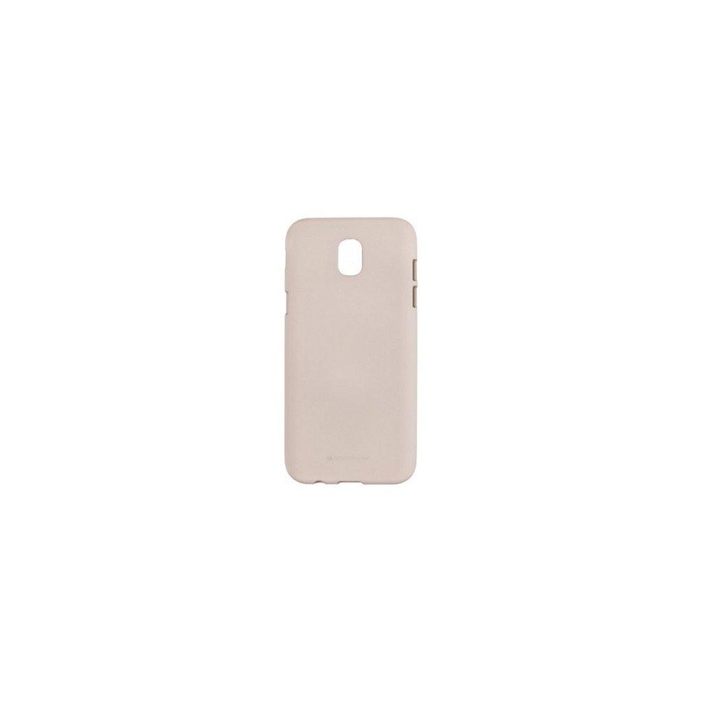 Zadný silikónový kryt Mercury Soft Case na Samsung J3 2017 béžový