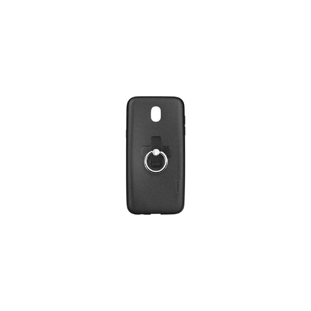 Zadný silikónový kryt X-LEVEL Jelly na Samsung J5 2017 čierny s prsteňom