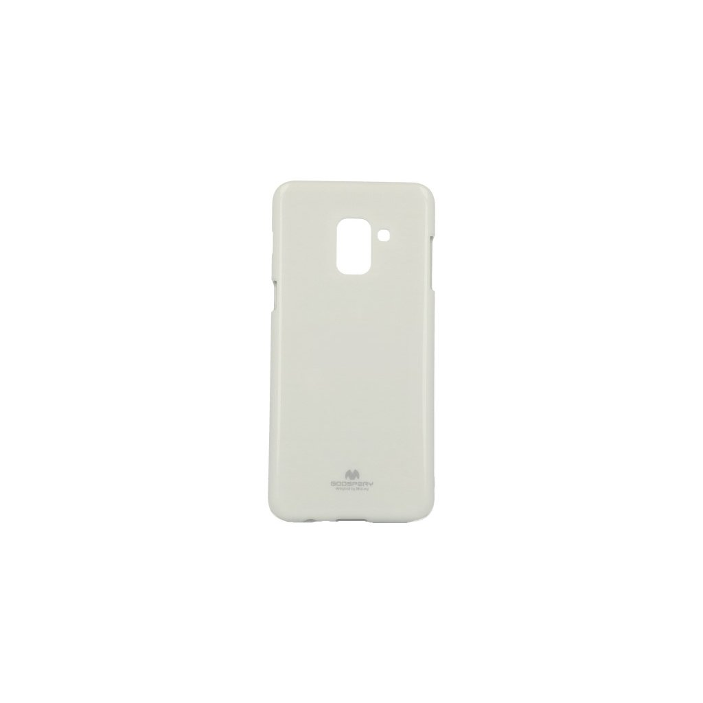 Zadný kryt Mercury Jelly Case na Samsung A8 2018 biely