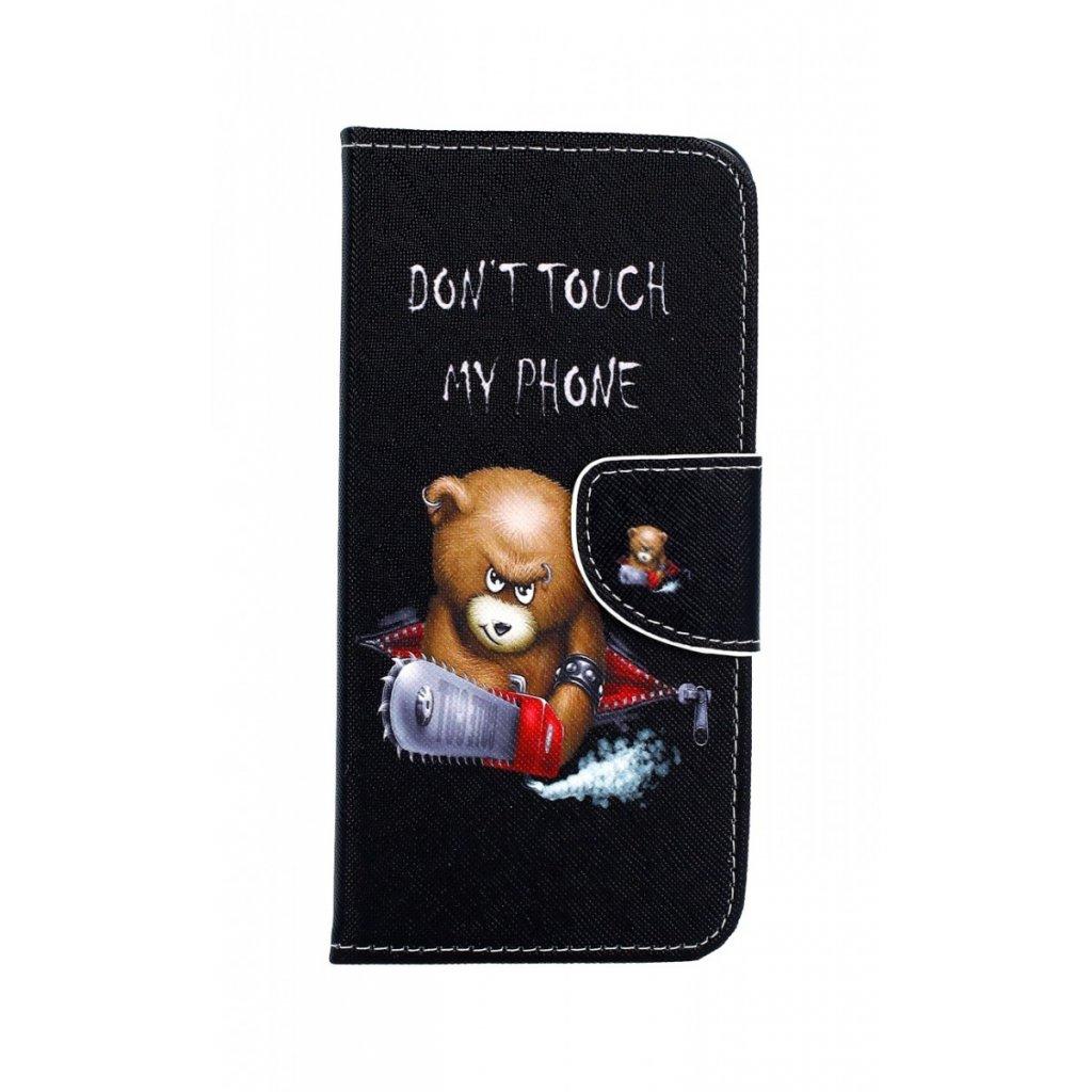 Flipové puzdro na Samsung A8 2018 Do Dont Touch macko