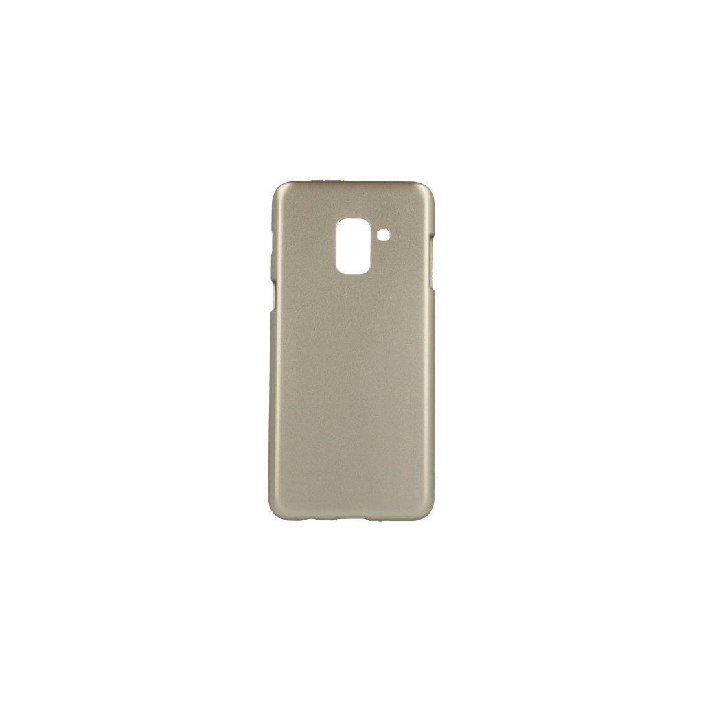 Zadný kryt Mercury iJelly Metal na Samsung A8 2018 zlatý