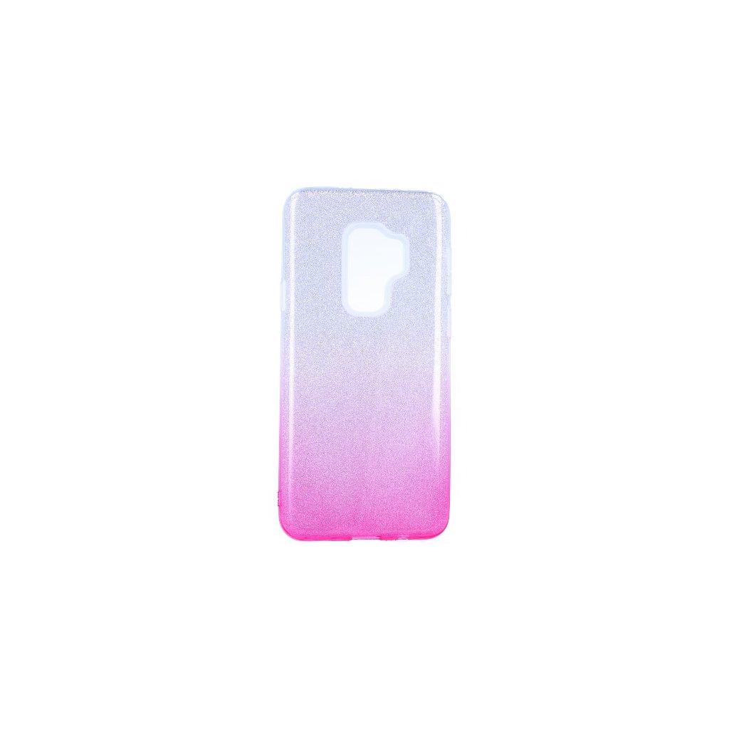 Zadný pevný kryt na Samsung S9 Plus glitter strieborno-ružový