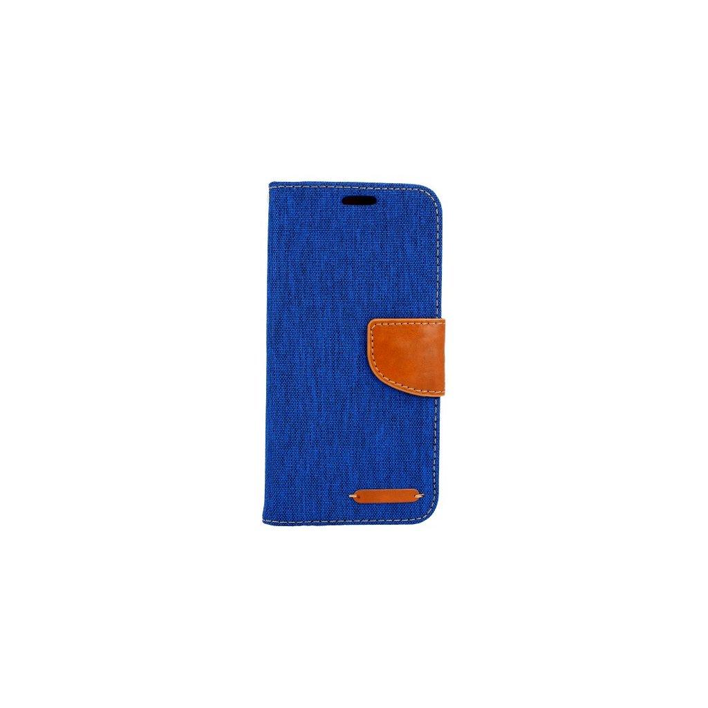 Flipové puzdro Canvas na Samsung A8 2018 modré
