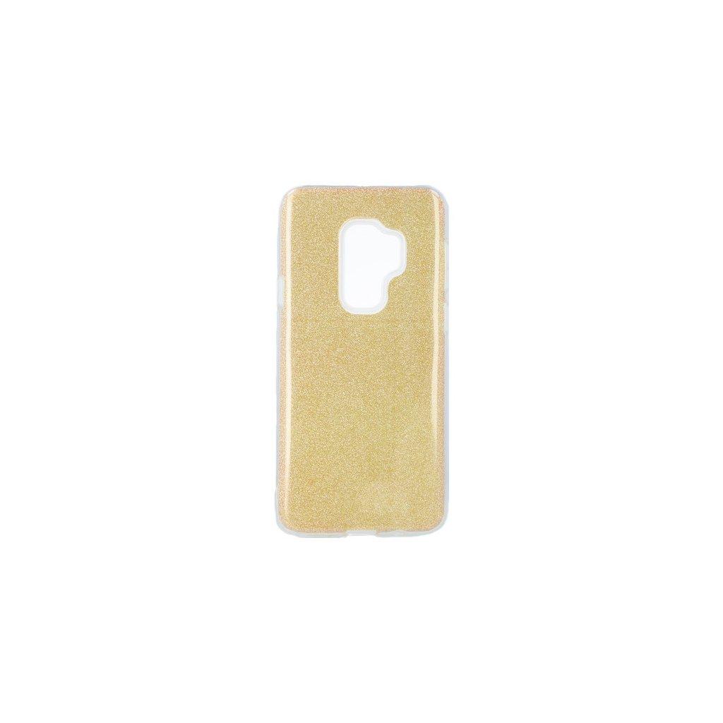 Zadný pevný kryt na Samsung S9 Plus glitter zlatý