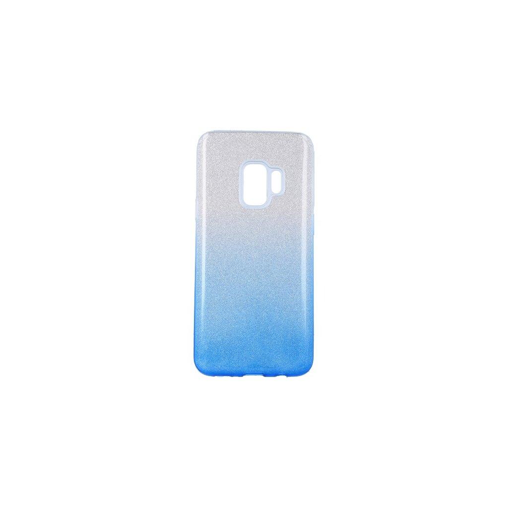 Zadný pevný kryt na Samsung S9 glitter strieborno-modrý