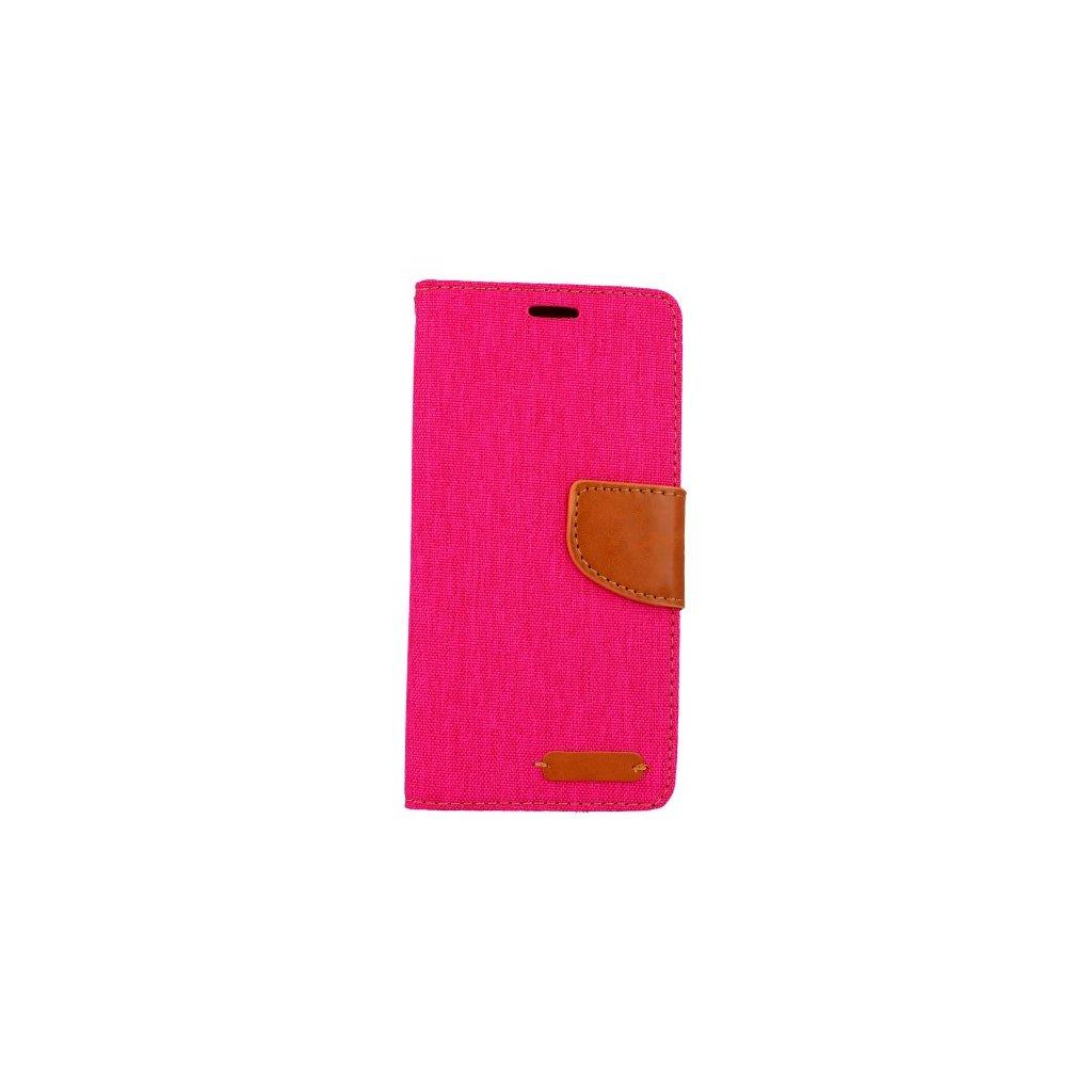 Flipové puzdro Canvas na Samsung A6 ružové